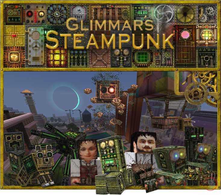 Glimmars Steampunk Minecraft texture resource pack