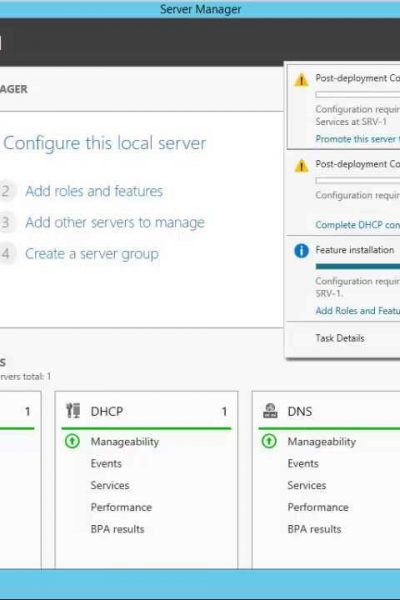 How to Install Active Directory, DNS, and DHCP to Create a Domain Controller