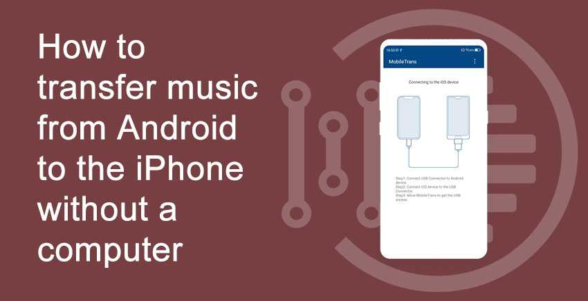How to transfer music from Android to the iPhone without a computer